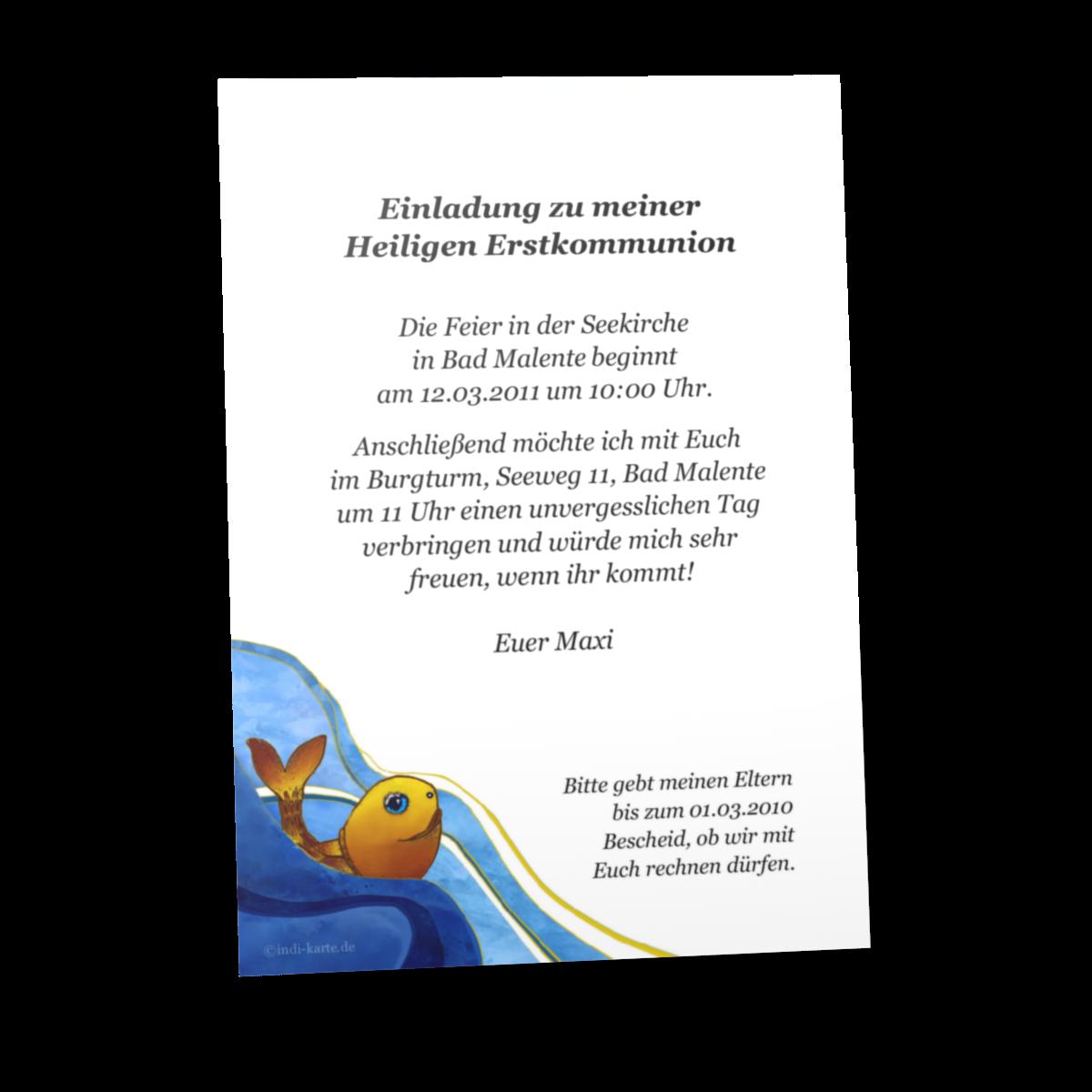 Kommunion Einladungskarten | Kommunion Einladung Karten Muster, Einladungs